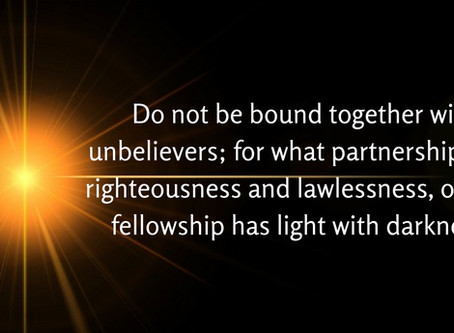 Reality & True Word of Yah: 2 Corinthians 6:14- The Meaning of Unequally Yoked Together