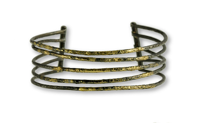 20K Gold and Steel Cuff