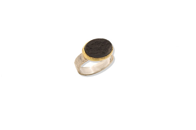 Wyoming Black Jade Ring