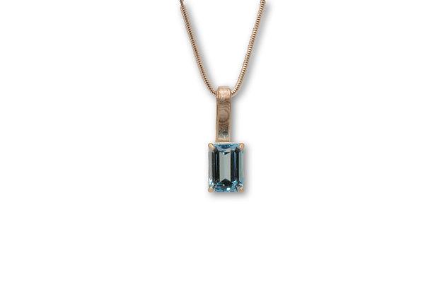 Blue Topaz Pendant