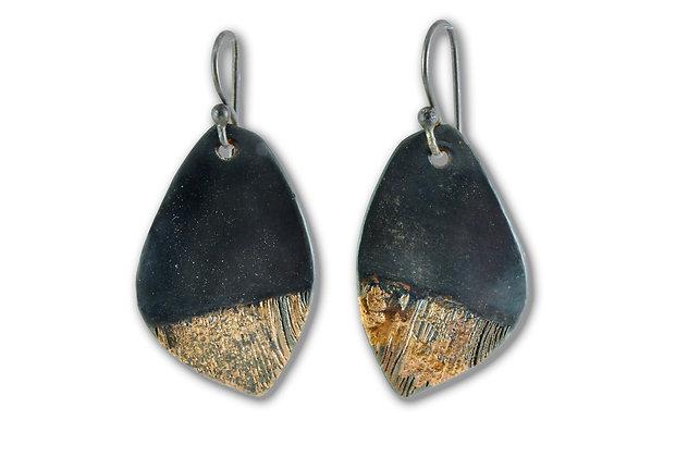 20 Karat Gold on Steel Leaf Earrings
