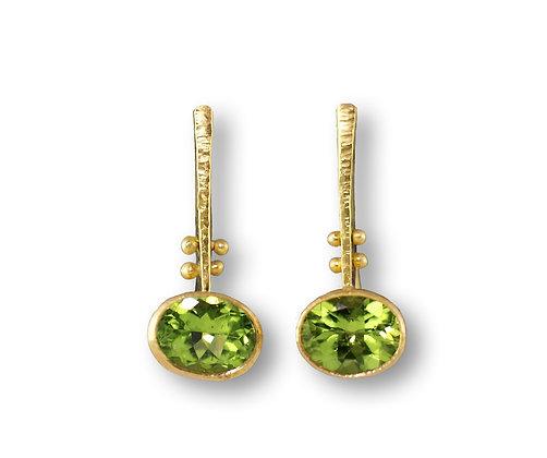 18K Peridot Earrings