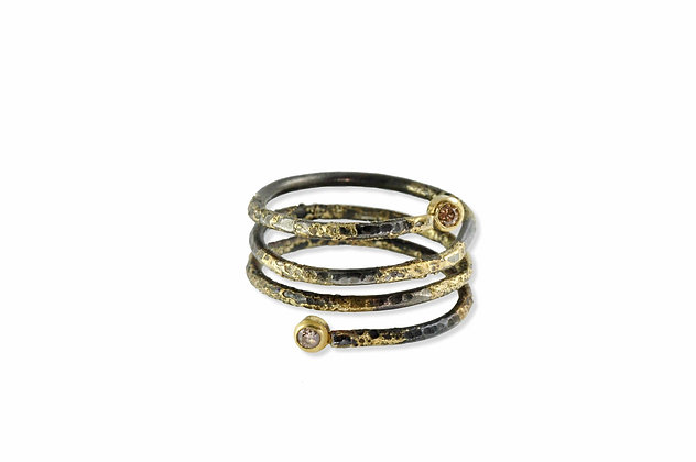 Cognac Diamond Twist Ring