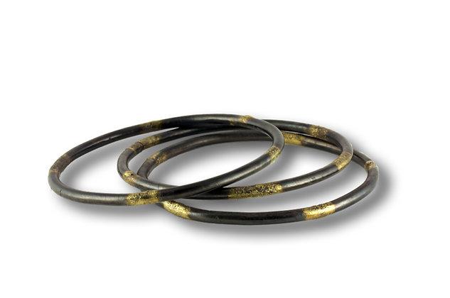 20 Karat Gold on Steel bangle bracelet
