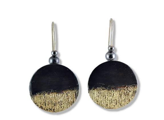 20 Karat Gold on Steel small disc earrings