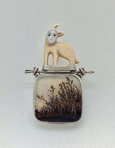 Rabbit Pin / Pendant