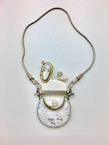 Moon Goddess Neckpiece w/2 Owls