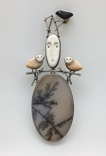 Woodland Goddess Pin / Pendant