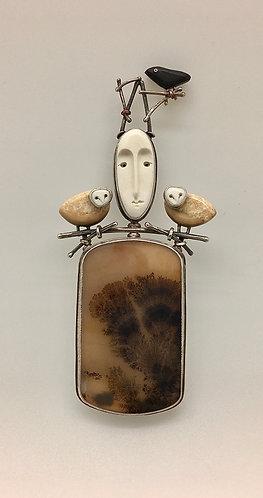 Woodland Goddess Pin / Pendant