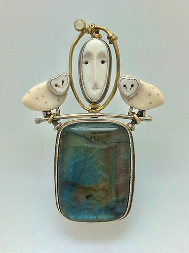 Moon Goddess Pin / Pendant