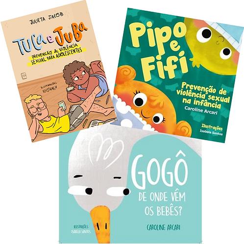 Kit TRIO: 1 PIPO E FIFI  +1 TUCA E JUBA + 1 GOGÔ