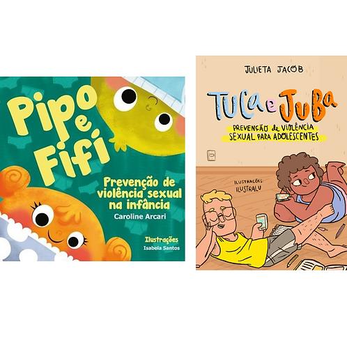 Kit 1 PIPO E FIFI + 1 TUCA E JUBA