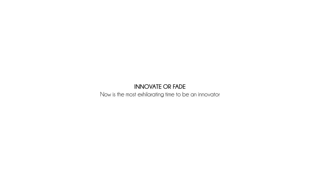 Innovate or Fade.wmv