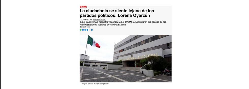 News ReportMX Lorena Oyarzun Cátedra Madero