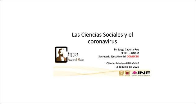 Webinar Las Ciencias Sociales y el coronavirus