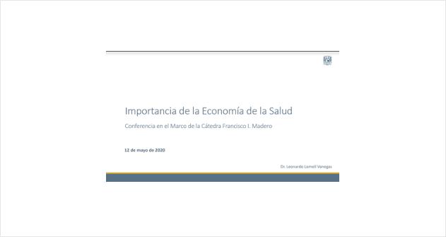 Webinar La Importancia de la Economía de la Salud