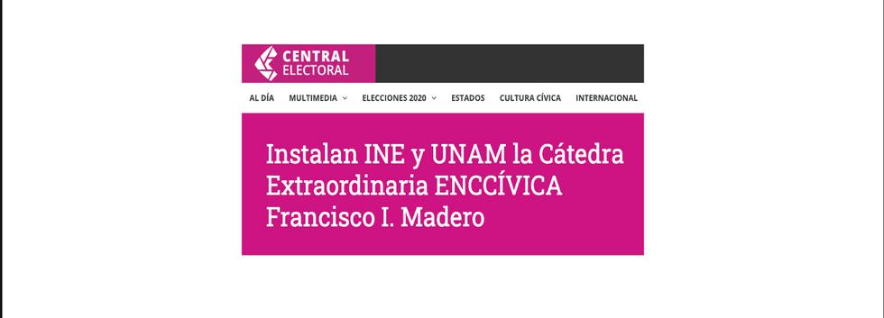 Central Electoral INE Instalación Cátedra Madero