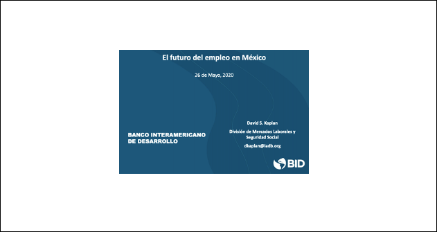 Webinar El futuro del empleo en México