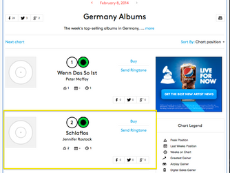 JENNIFER ROSTOCK DEBUTS AT #2 IN GERMANY AND #5 IN AUSTRIA