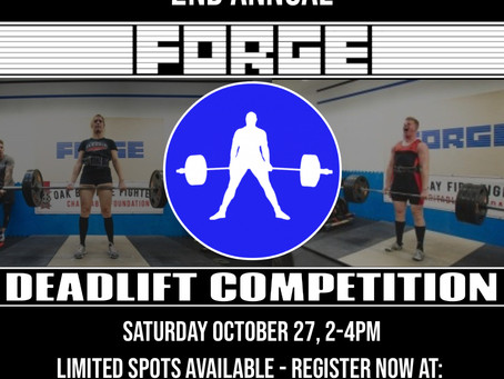 2nd Annual Forge Deadlift Competition