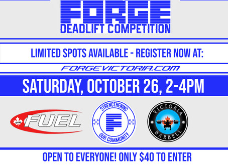 Sign-up for our 3rd Annual Deadlift Competition Today!