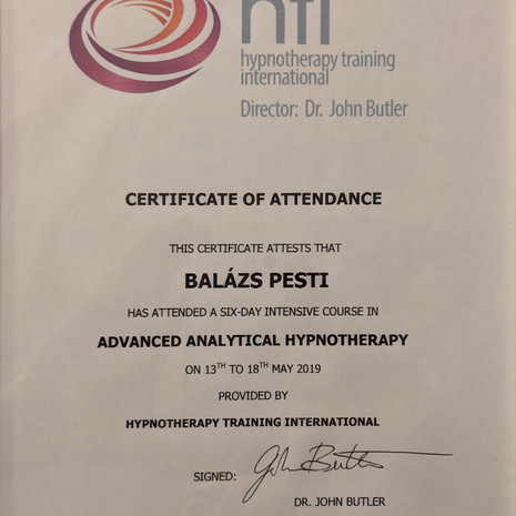 Advanced Analitical Hypnotherapy