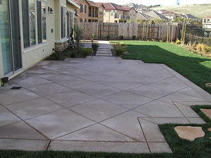 Concrete and Stone Patios
