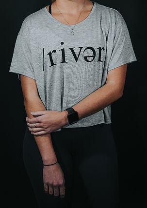 Womens /river/ Grey Top