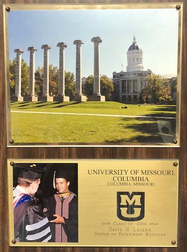 University of Missouri Plaque