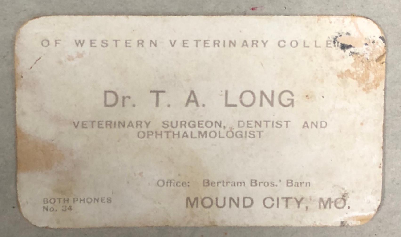 Thomas Long's Business Card