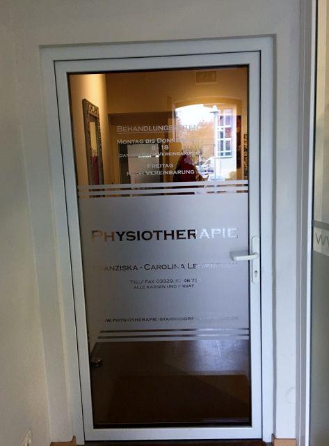Eingang Physiotherapie Stahnsdorf
