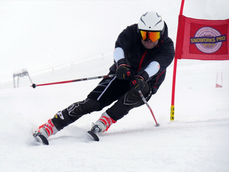 Tignes ski race training