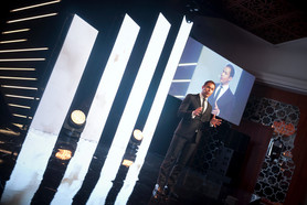Hosting the Wella Trendsetters Awards in Casabanca in 2016.