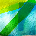 Fused salvaged glass, detail