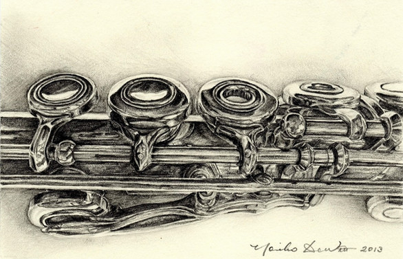 Study of a flute -2