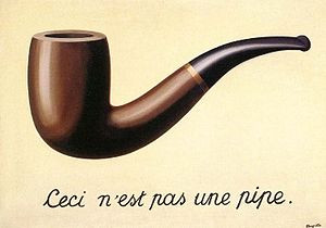 image of Magritte painting, The Treachery of Images