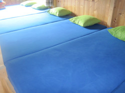 Bedding in our Karl hut