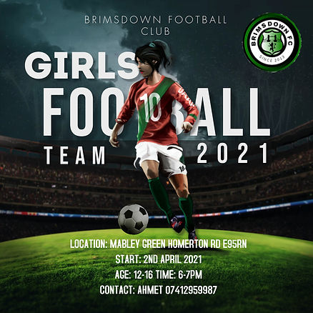 Copy of Womens Football League Game Ad -