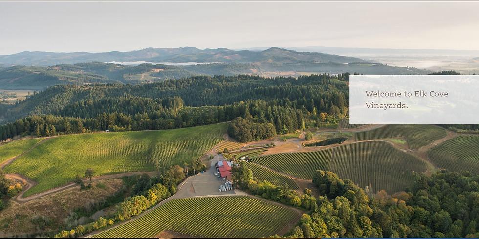 Wine pairing Dinner with Elk Cove of Willamette Valley, Oregon