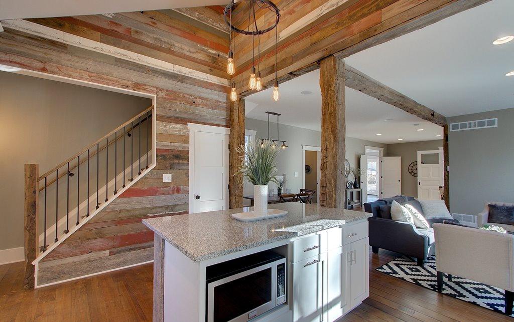 Custom Designed Barn Wood Interior Work