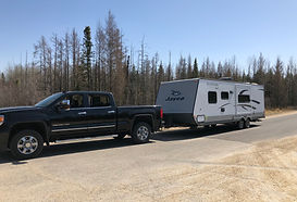 RV pulled by truck