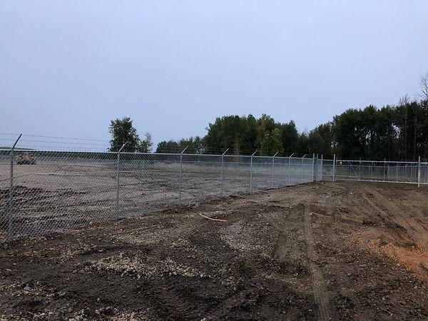 RV Storage lot is fenced