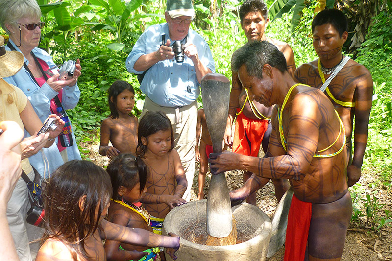 Embera tribe in Darien Jungle