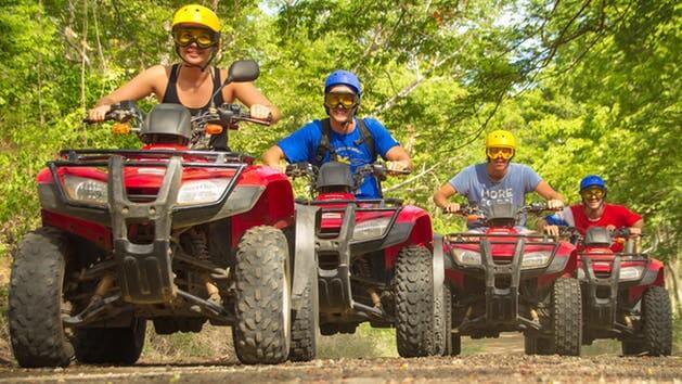 Costa Rica ATV adventure group driving along trail