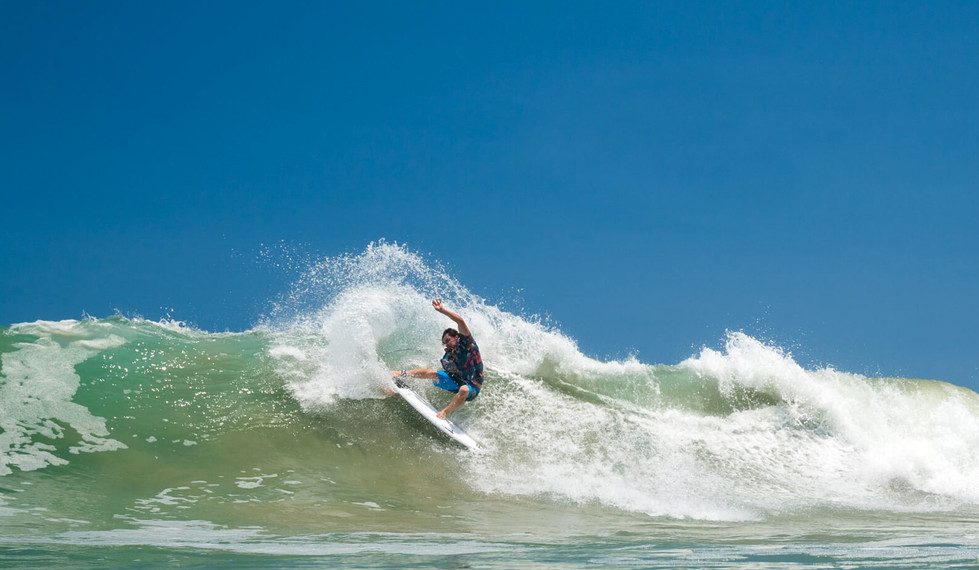 Salina Cruz Surf Camp radical cutback by one of our guests