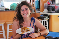 Zenith II chef San Blas catamaran