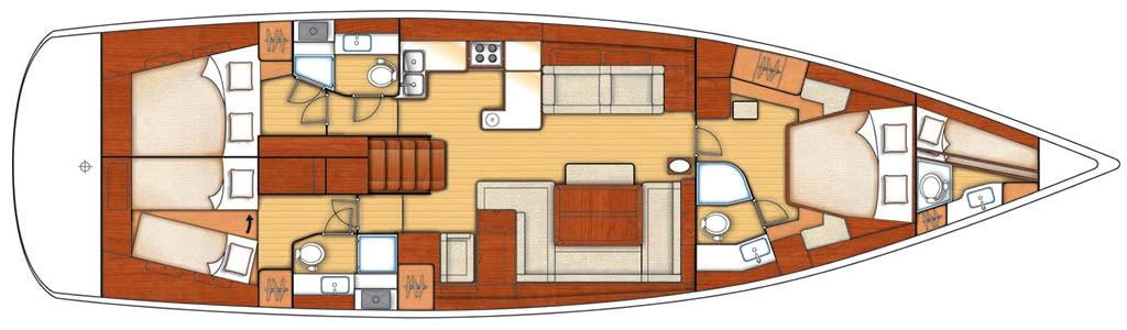 Queen Axier boat layout