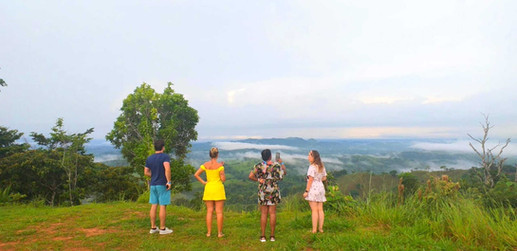 San Blas transportation guests admiring the scenery