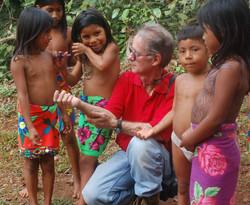 Embera tribe kids in Darien Jungle