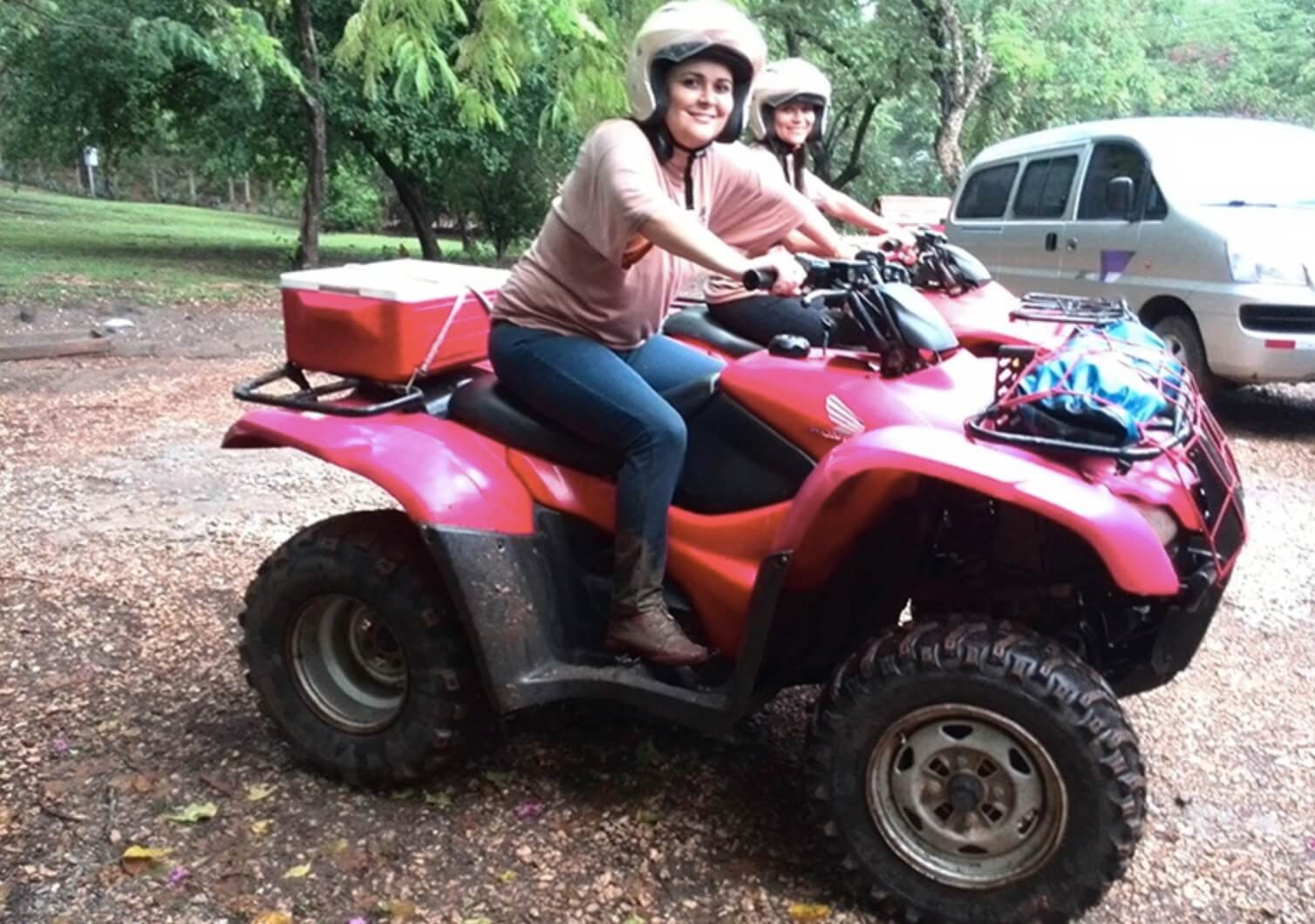 Tamarindo Guanacaste ATV adventure tour group smiling women